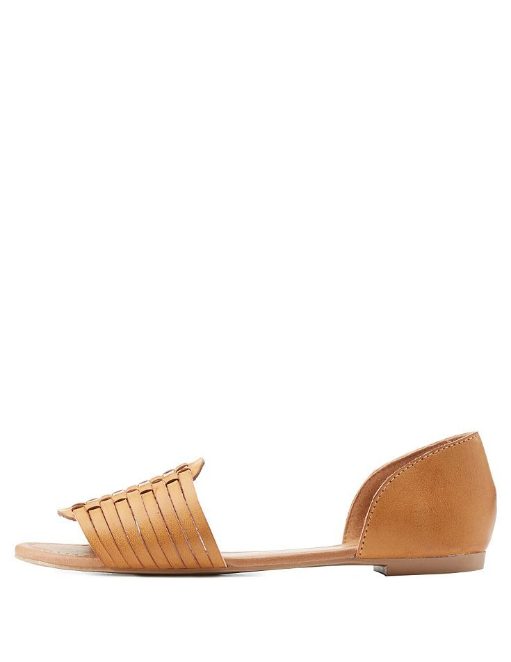 df6a34b6e210 Qupid Two-Piece Huarache Sandals by Qupid at Charlotte Russe - Camel ...