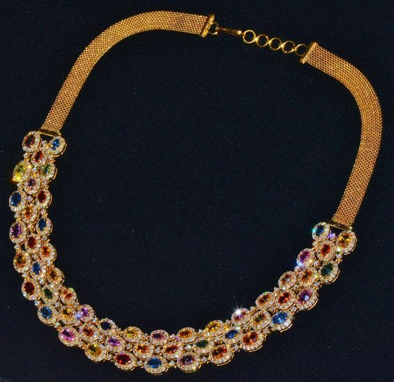 Sapphire Diamond Necklace Diamond Necklace 30CTS Natural