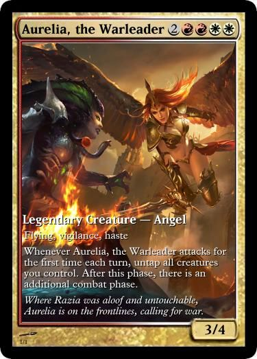 Aurelia, the Warleader | Mtg altered art, Magic card game ...