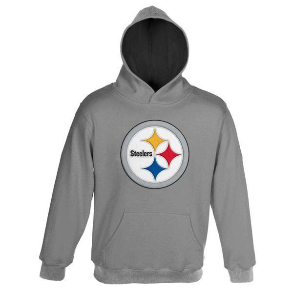 wholesale dealer 16d76 3ac4b Picture of Pittsburgh Steelers Youth Primary Grey Hoodie ...