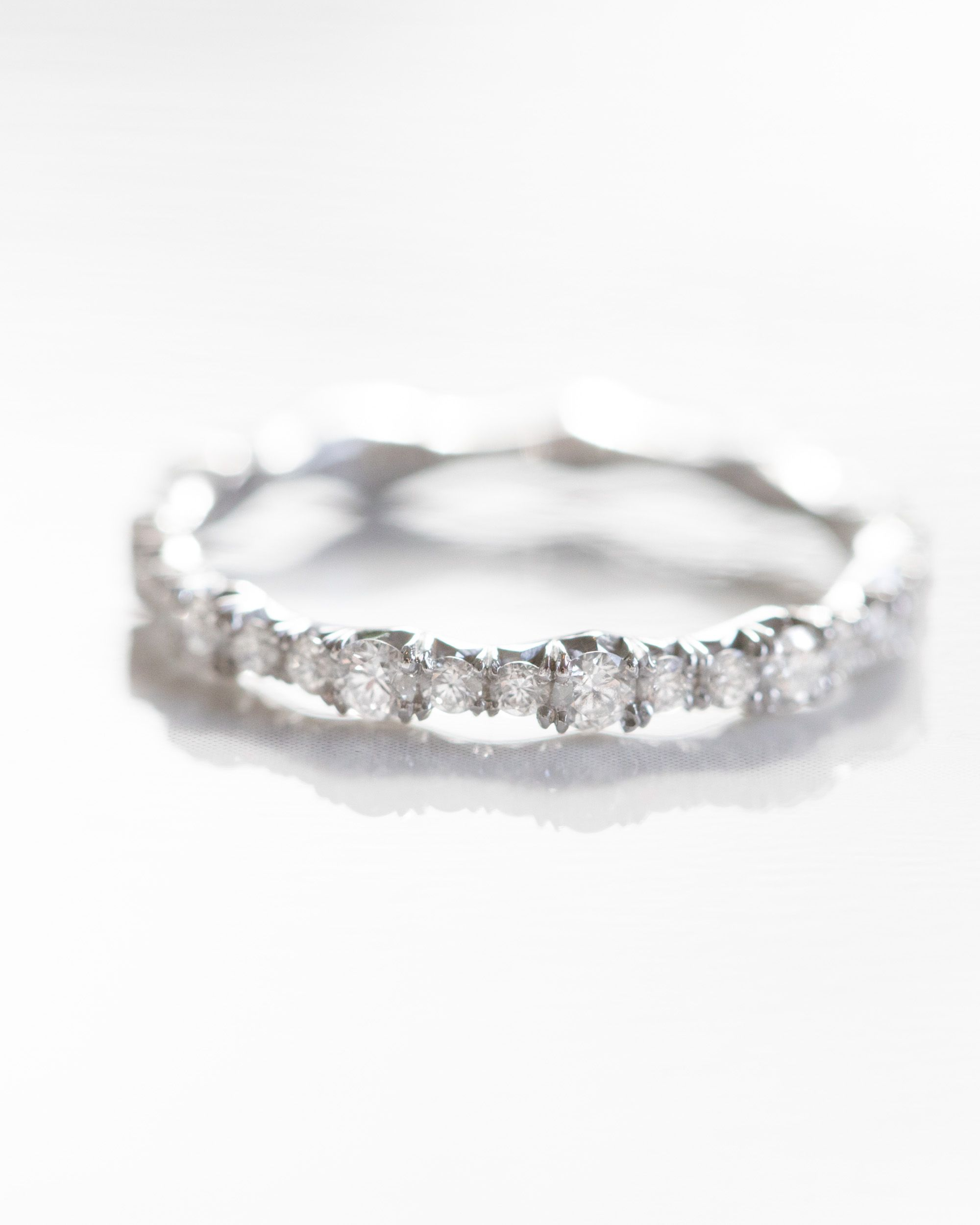 This Ring Features Round Diamonds Of Graduated Sizes Arranged To Emulate A Wave Pattern The French Pave Setting Adds More Visual Intrigue Overall: Wave Pattern Wedding Ring I Do At Websimilar.org