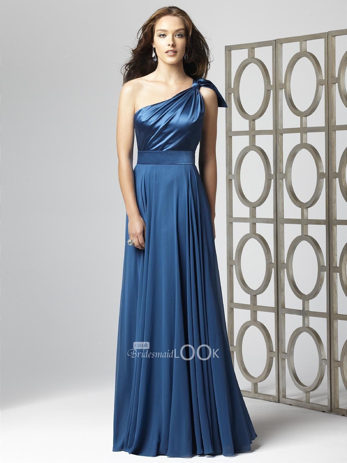 2f221530d8 Chiffon One Shoulder Long Bridesmaid Dress - Data Dynamic AG