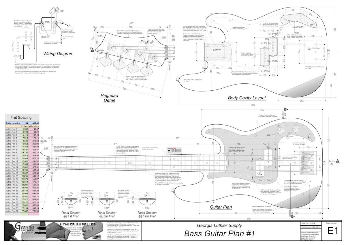 Bass Electric Guitar Plans 1 Electronic Version With