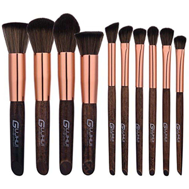 RNTOP 10PCS Makeup Brushes Set Kit Tool Blending Pencil