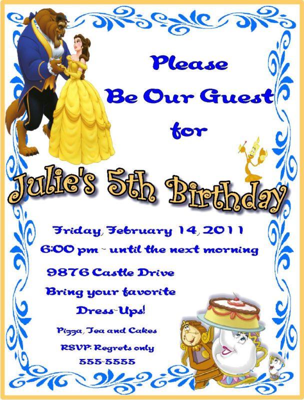 invitation card to birthday party