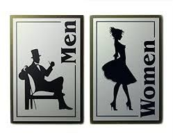 Image result for art deco toilet signs order up