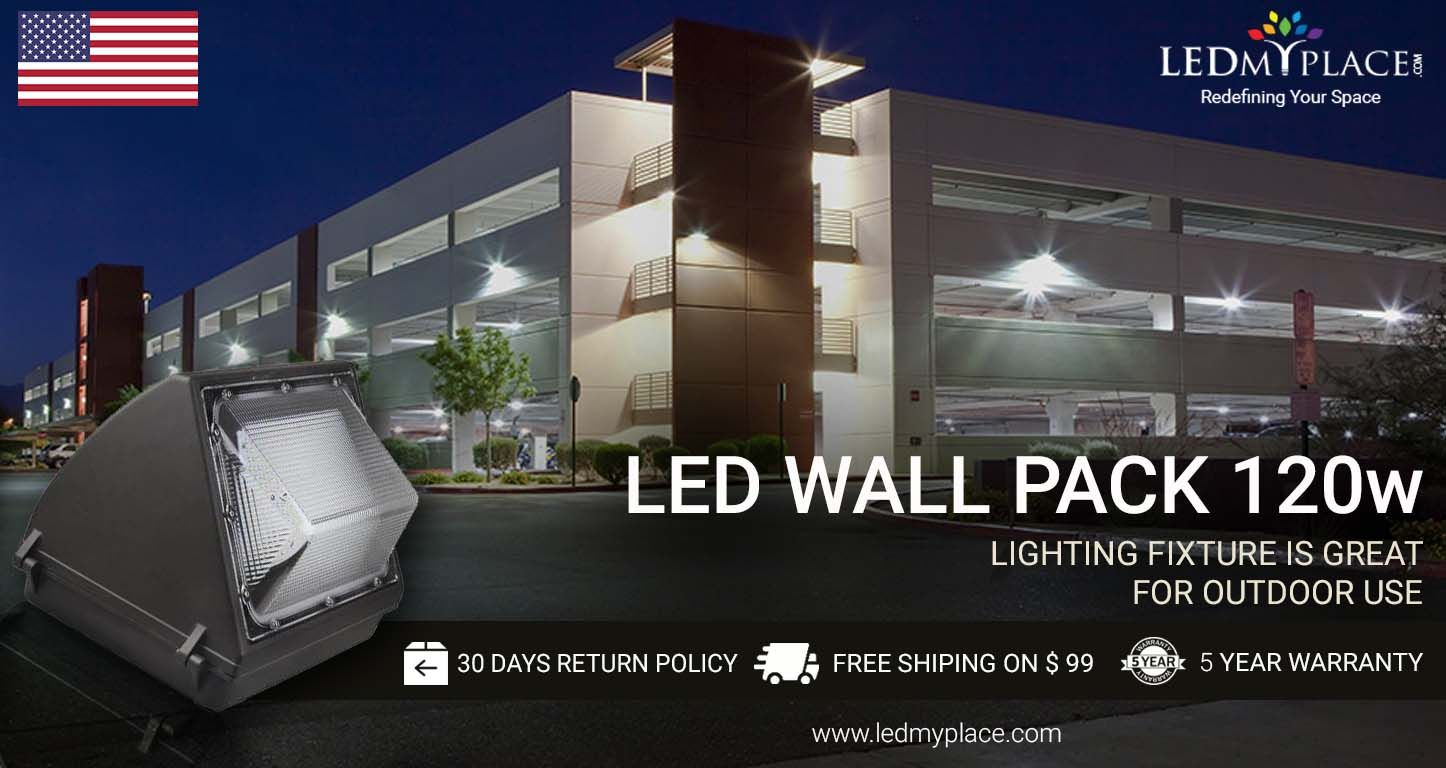 Led Wall Pack Lighting Fixture Is Great For Outdoor Use And Replaces The Conventional Lighting Fixtures Such As Hps Lights 1 Wall Packs Wall Pack Lights Wall