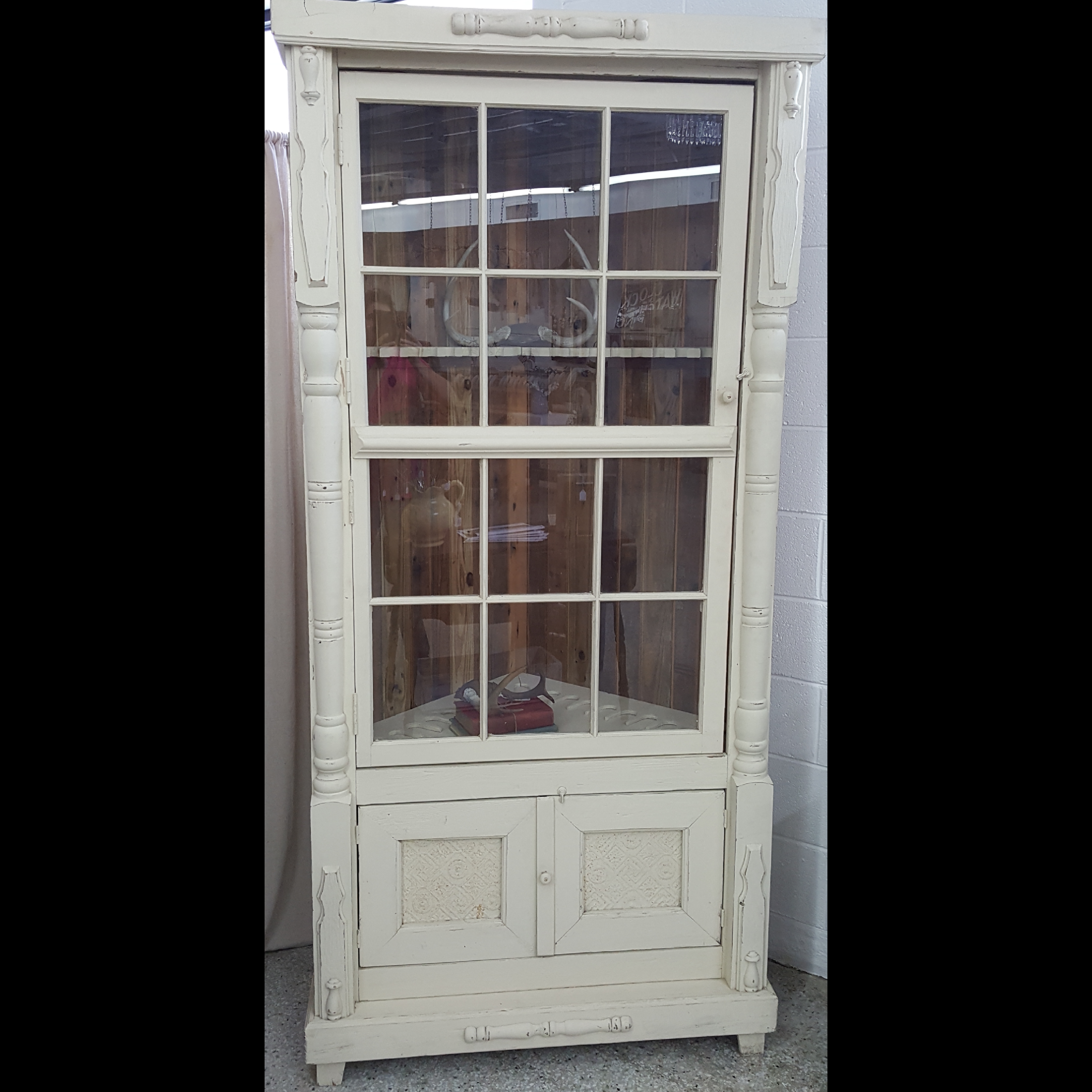 Farmhouse Gun Cabinet That Can Be Used As An Actual Or Covert It With Shelves To Use A China Lots Of Character On This Piece