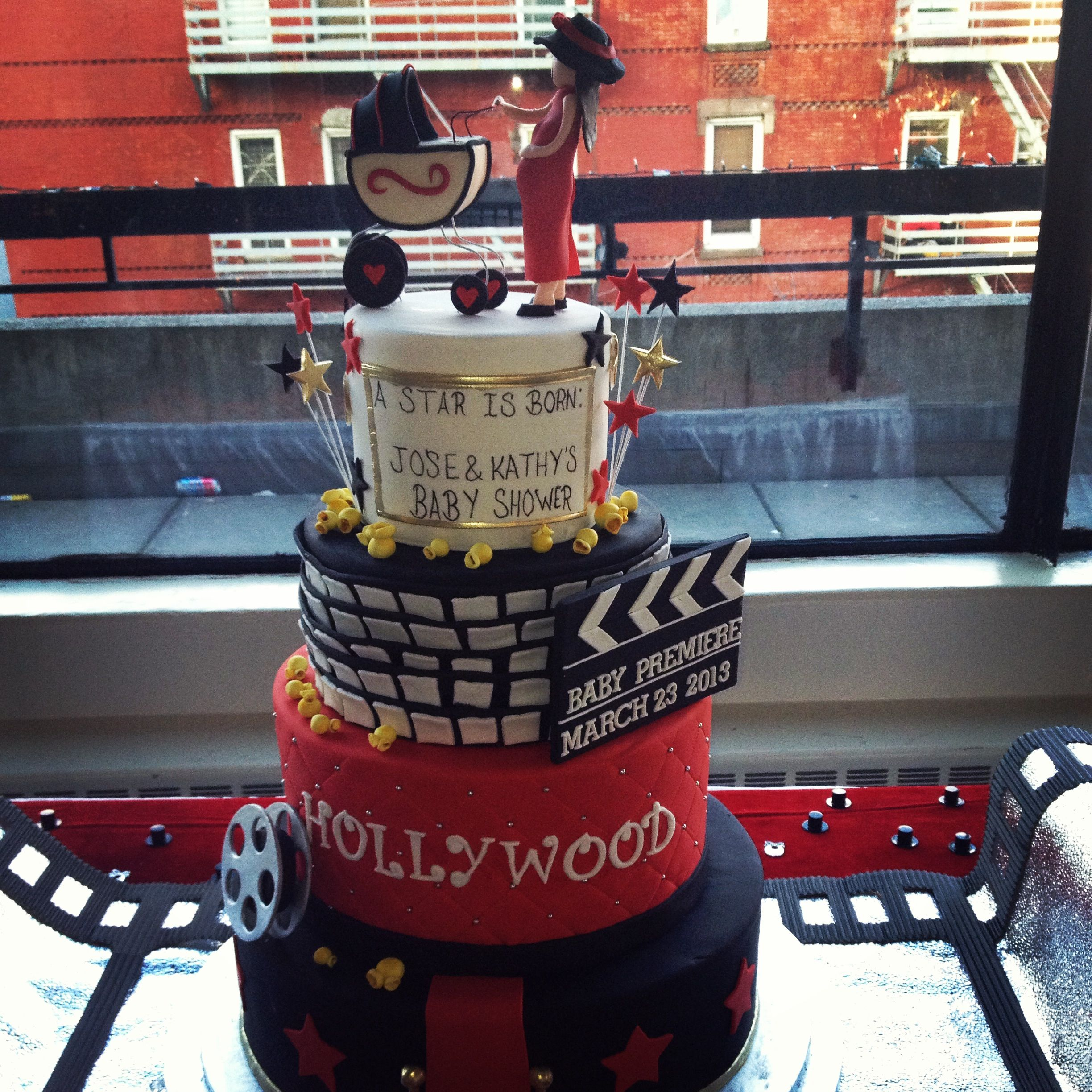 Hollywood Baby Shower Cake Baby Shower Cakes Pinterest Shower