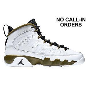 3d0b13d8224 Jordan Retro 9 - Boys' Grade School - White/Black/Militia Green ...