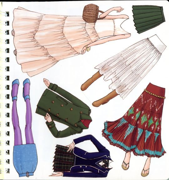 Oshare Note2 - Art by Naoki Watanabe - Mama Mia - Picasa Webalbum * 1500 free paper dolls at Arielle Gabriel's The International Paper Doll Society and also free paper dolls at The China Adventures of Arielle Gabriel *