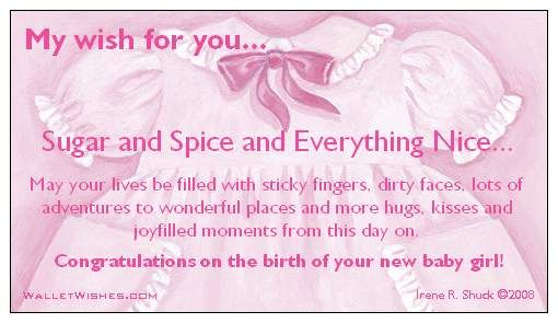 Congrats On Your New Baby Girl Misc Greetings Pinterest