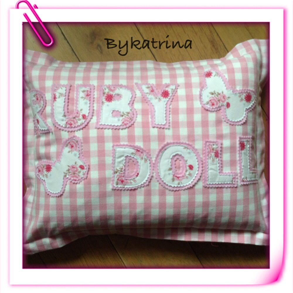 Cushions in beautiful gingham personalised