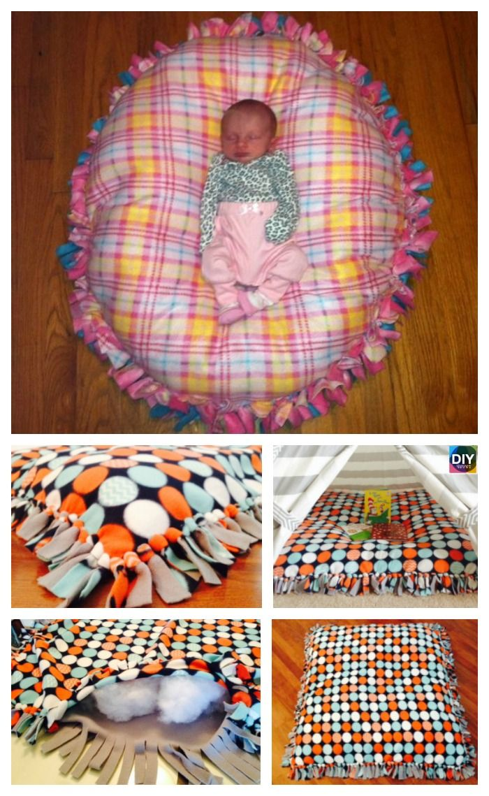 DIY Baby Floor Pillow Tutorial - No Sewing | Diy baby, Floor pillows ...