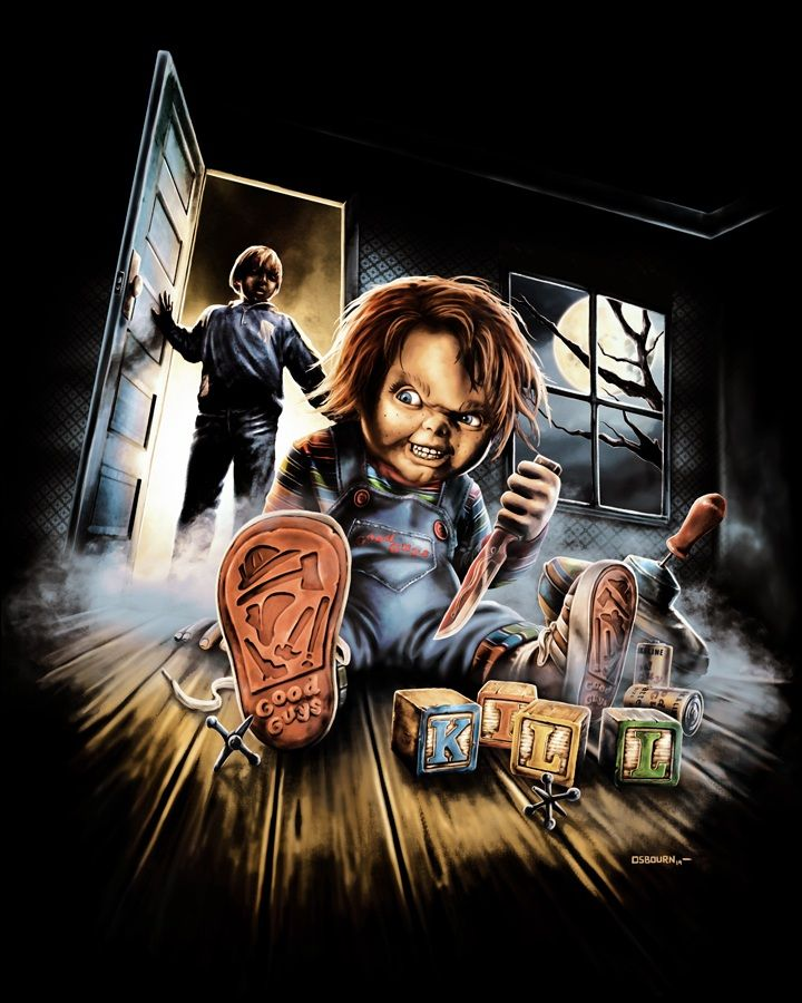 Chucky. Child's Play. Horror artwork, Horror movie icons