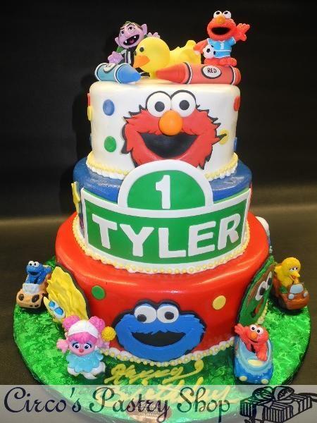 Sesame Street Fondant Cake Elmo Fondant Tier Sesame Street Cake with