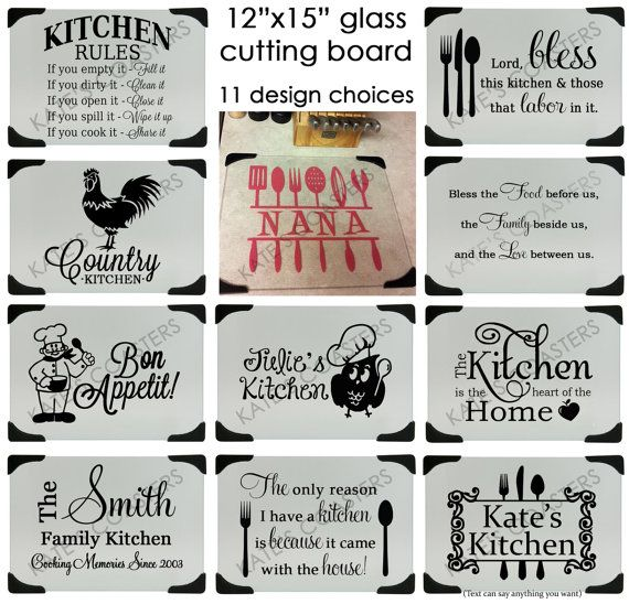 exceptional Kitchen Glass Cutting Boards Decorative #3: 17 Best images about Cutting Boards Ideas on Pinterest | Vinyls, Soul  quotes and Glasses