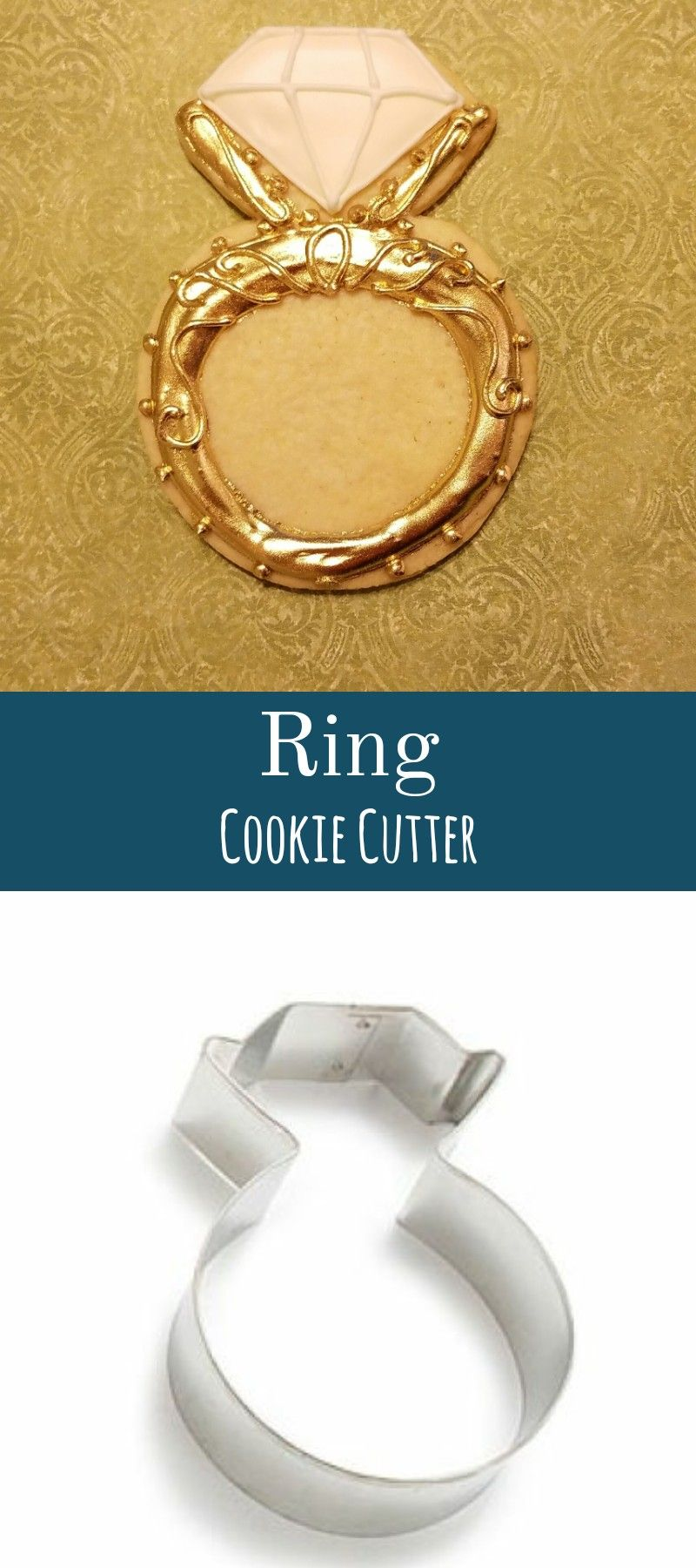 Wedding dress cookie cutter  Ring cookie cutter and am example of a sugar cookie i made