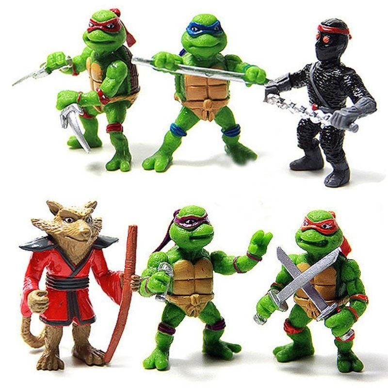 4 pcs//set Anime Teenage Mutant Ninja Turtles TMNT Action Figures Movie Gift Toys