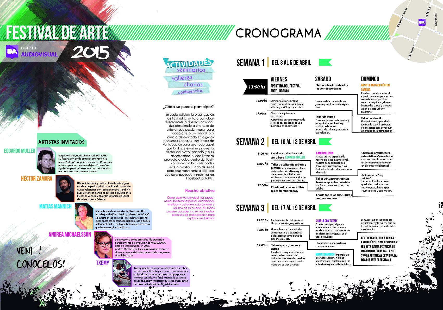 Agenda para festival de arte urbano Diseño Gráfico 2 - Mazzeo