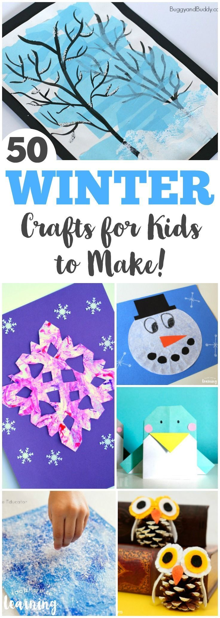 Winter is the perfect season for crafting! Share some of these fun and easy winter crafts for kids with your little ones! #KidsCrafts #kidsactivities