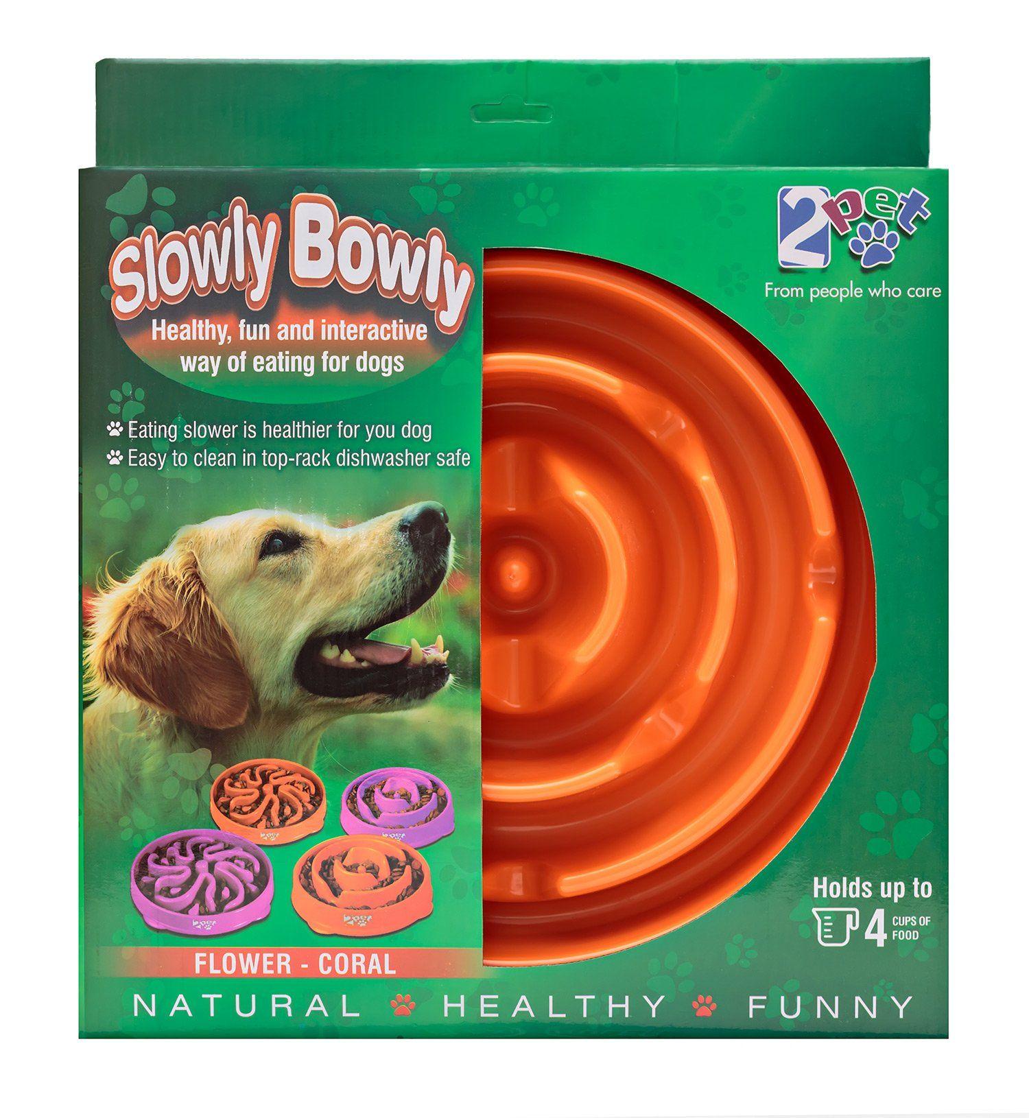 Slow Feed Dog Bowl Slowly Bowly By 2pet Fun Interactive Dog Dish