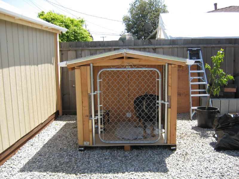 "36"" x 48"" dog house plans - lean to roof - pet size to 100 lbs"