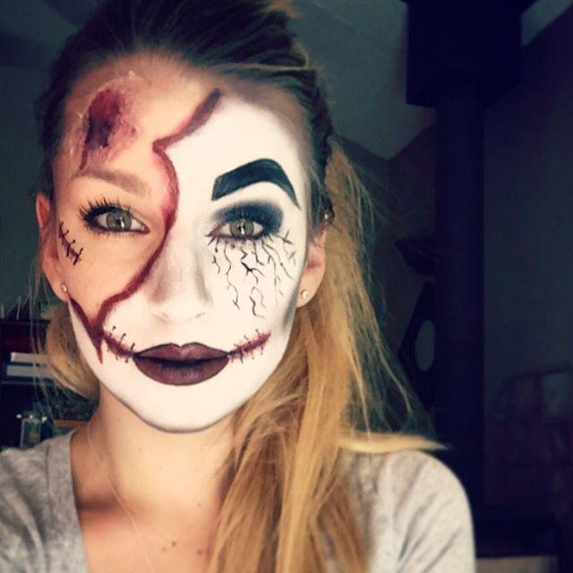 Split Face Halloween Makeup With Images Cool Halloween Makeup