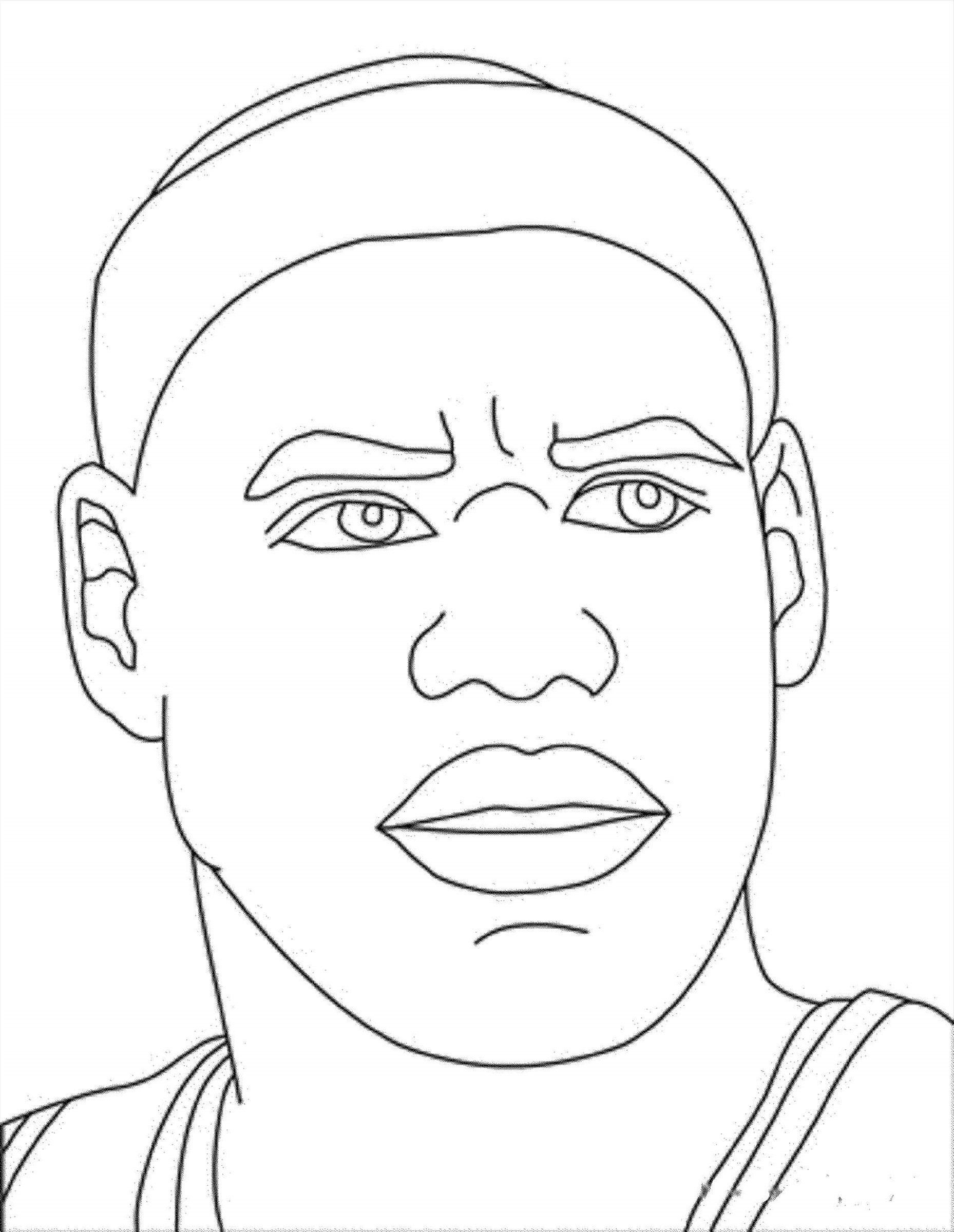 Stephen Curry Closed Up Coloring Pages Basketball ...