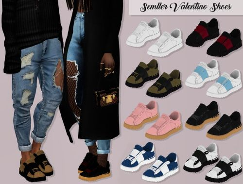 LumySims: Semller Valentino Shoes • Sims 4 Downloads