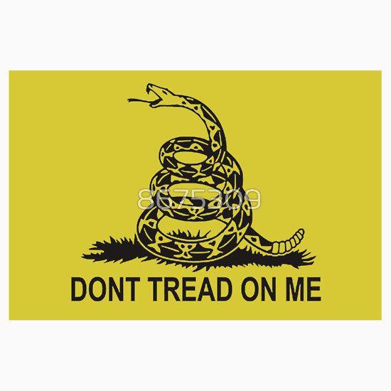 Don T Tread On Me Gadsden Flag Sticker Shirt Skin Case 2nd Amendment Sticker By 8675309 Gadsden Flag Dont Tread On Me Flag Decal
