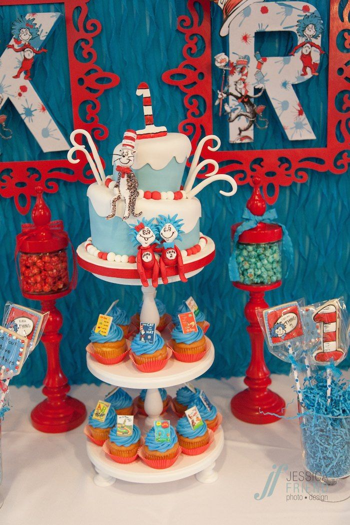 Thing 1 Amp Thing 2 Dr Seuss Themed Birthday Party Planning