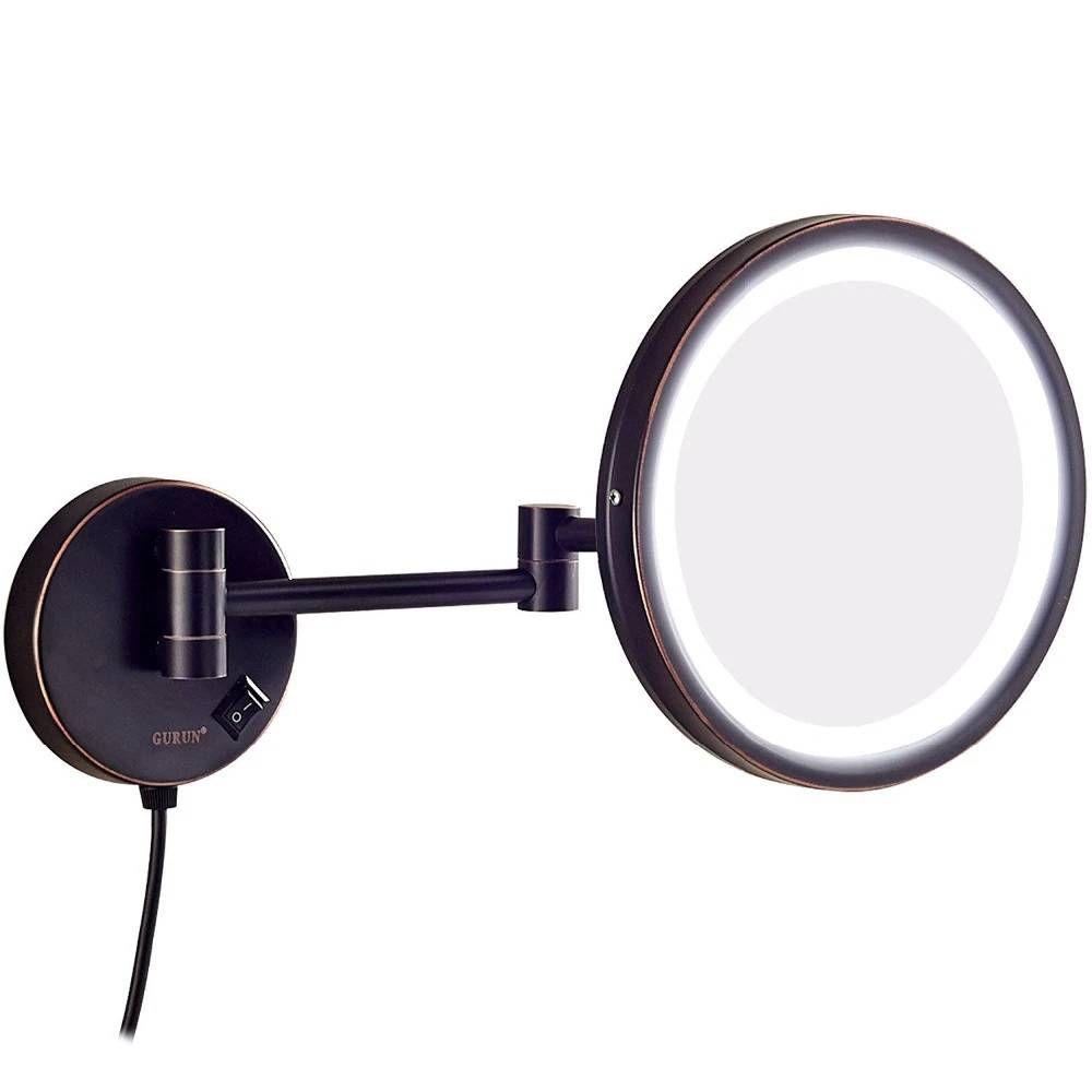 Hotel Bathroom 10x Magnification Vanity Lighted Makeup Mirror