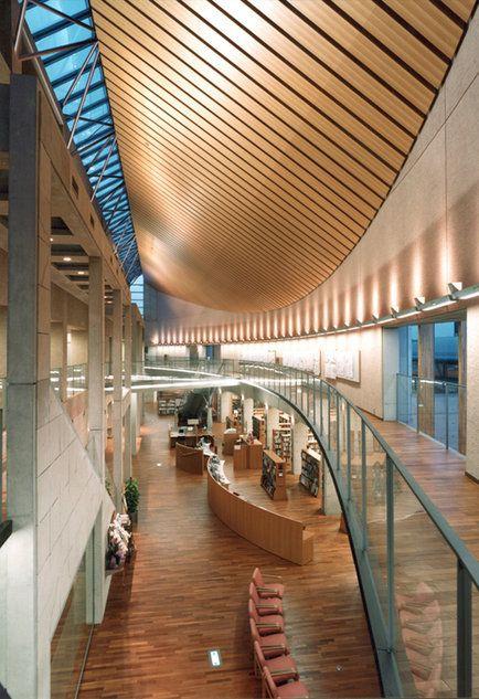田原市中央図書館 東京都の建築家 新居 誠之さんの建築作品 建築家と家づくりをはじめよう Houseco 建築 建築デザイン 建築物