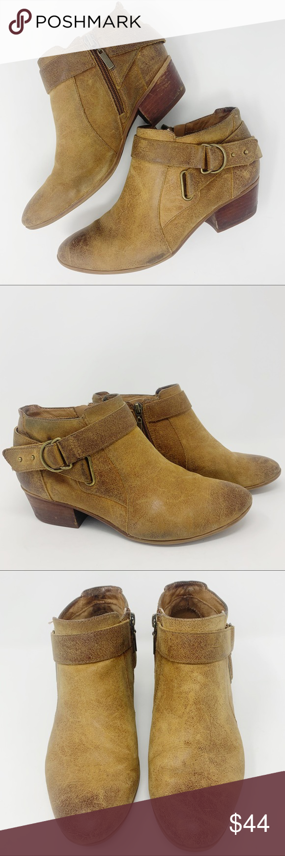 Clark's Artisan Tan Leather Ankle Boots Sz 7.5 Super cute and very well made Ankle Boots.   Perfect fall/winter boots to wear with skinny jeans.   Excellent pre-owned condition, lots of life left!   Smoke free home!   Bundle and save! Clarks Shoes Ankle Boots & Booties #skinnyjeansandankleboots