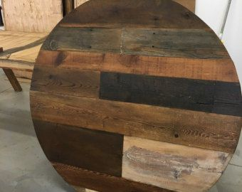 Round Dining Table,reclaimed Wood, Round Table,wood Variety /made To Order/ Table Top ONLY /Buy A Base Separately