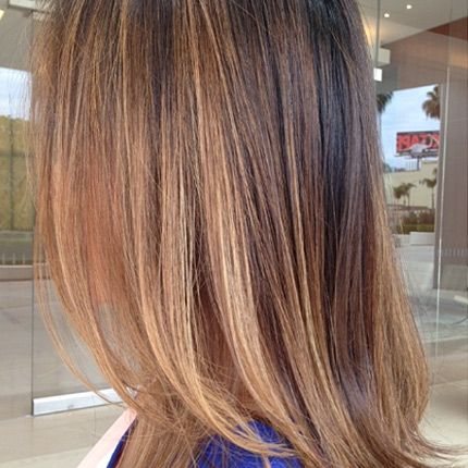 Hair color by salon owner Meredith.  Soft caramel, sun kissed hair,  balayage, melted hair color, golden hair.