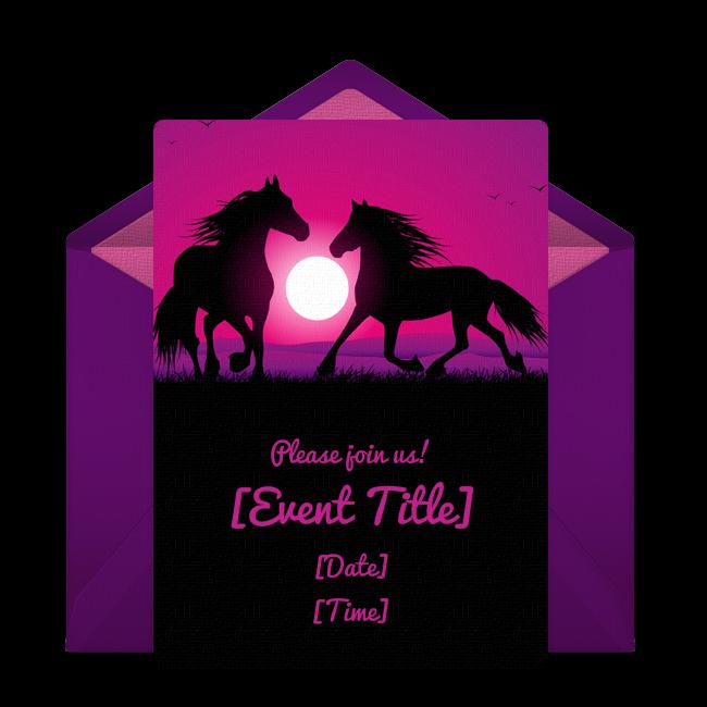 Free wild horses invitations free birthday themed birthday free wild horses invitations filmwisefo Gallery