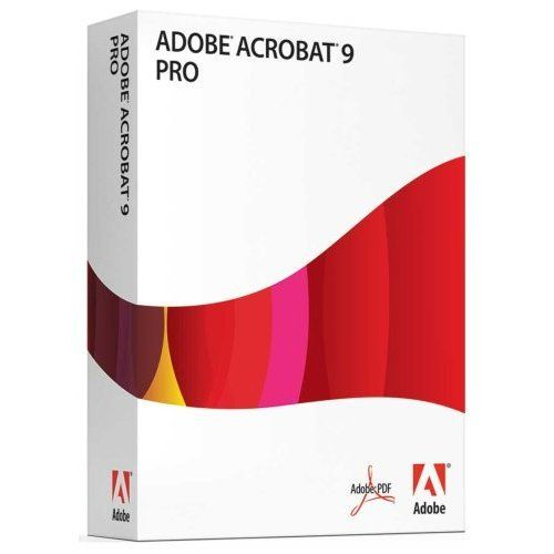 Acrobat 9 Pro Adobe software, Adobe acrobat, Adobe