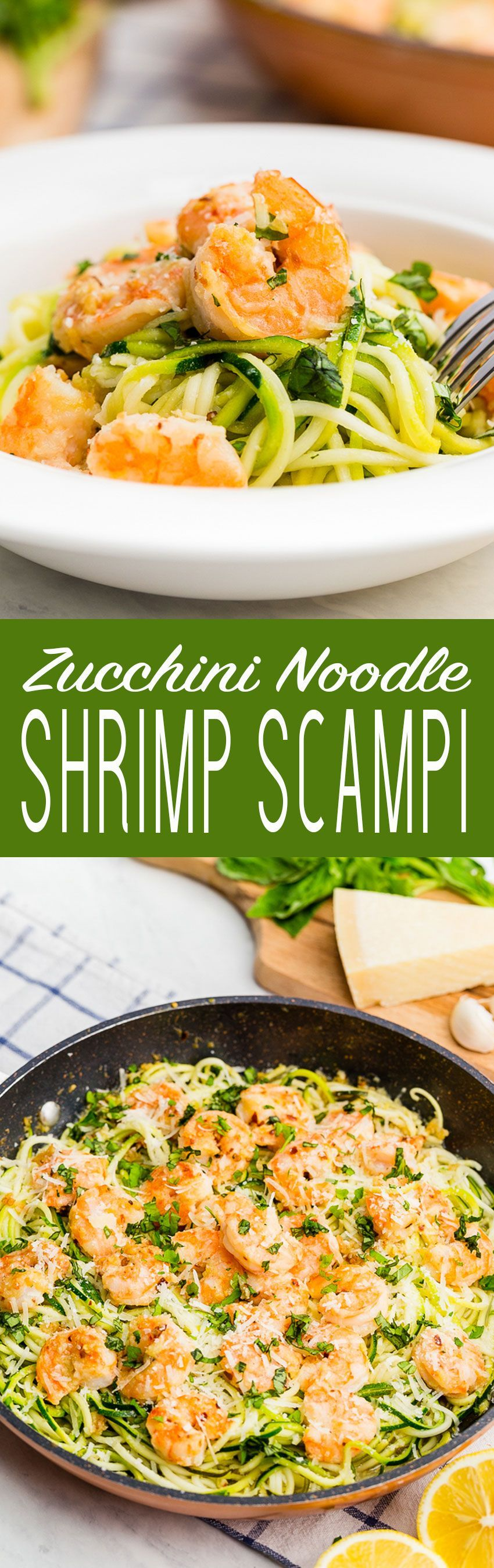 Zucchini Noodle Shrimp Scampi is fresh, delicious, and so easy to throw together!