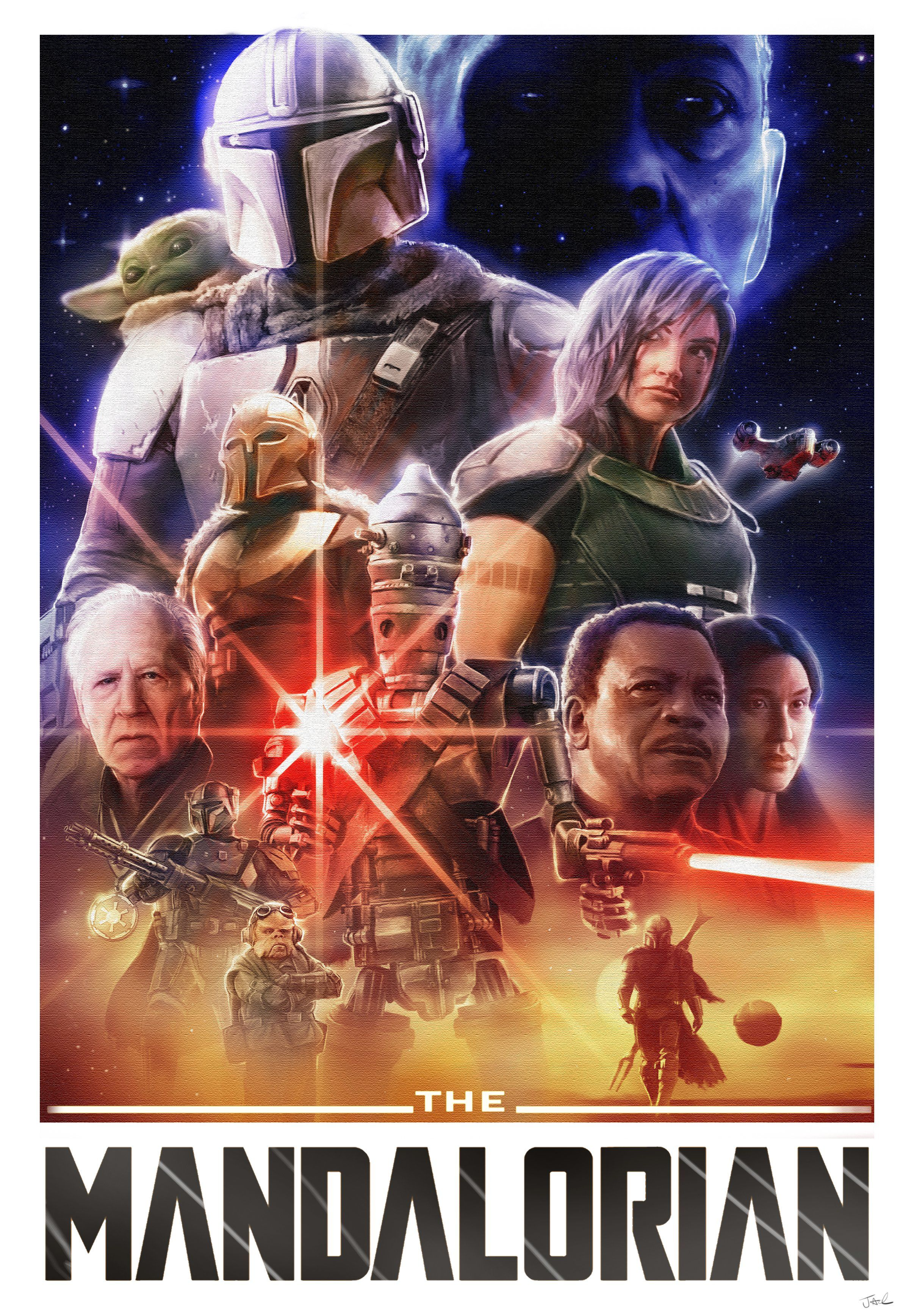 Drew this Mandalorian poster! Hope you like it!! )https
