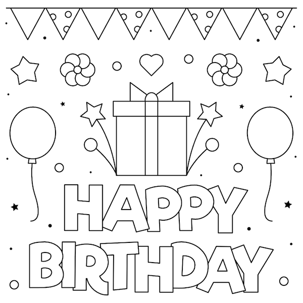 92 Free Printable Birthday Cards For Him Her Kids And Adults Print At Home Free Printable Birthday Cards Birthday Card Printable Happy Birthday Coloring Pages