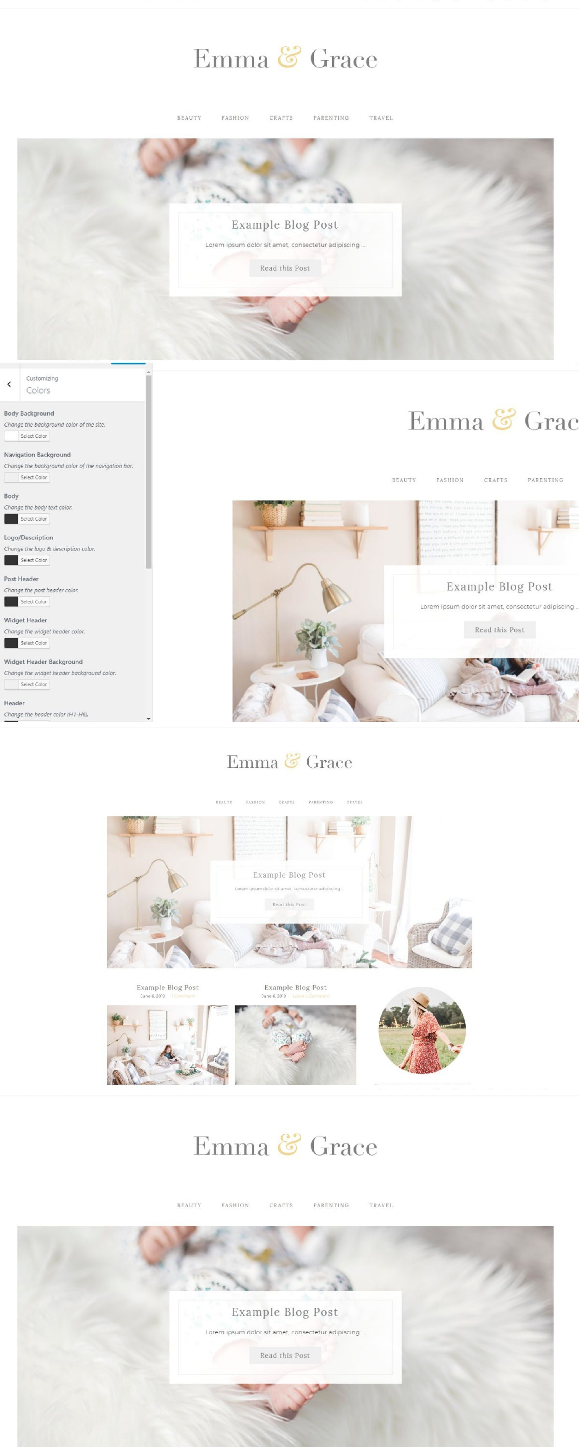 Theme Features Responsive Layout EASILY change colors of