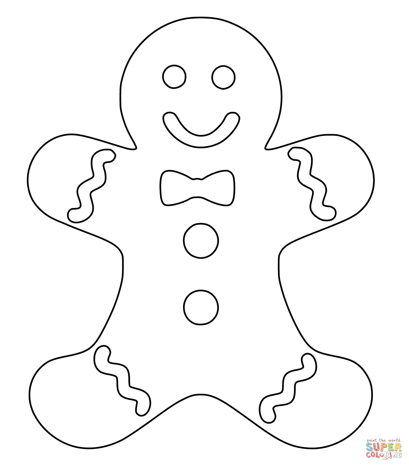 Christmas gingerbread man super coloring