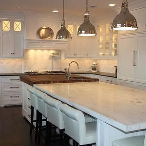 Square Kitchen Islands grothouse lumber - kitchens - white, kitchen cabinets, pot filler