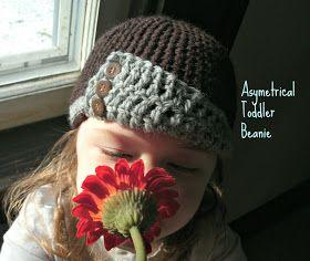 Mama G's Big Crafty Blog: Free Crochet Pattern: Asymmetrical Toddler Hat