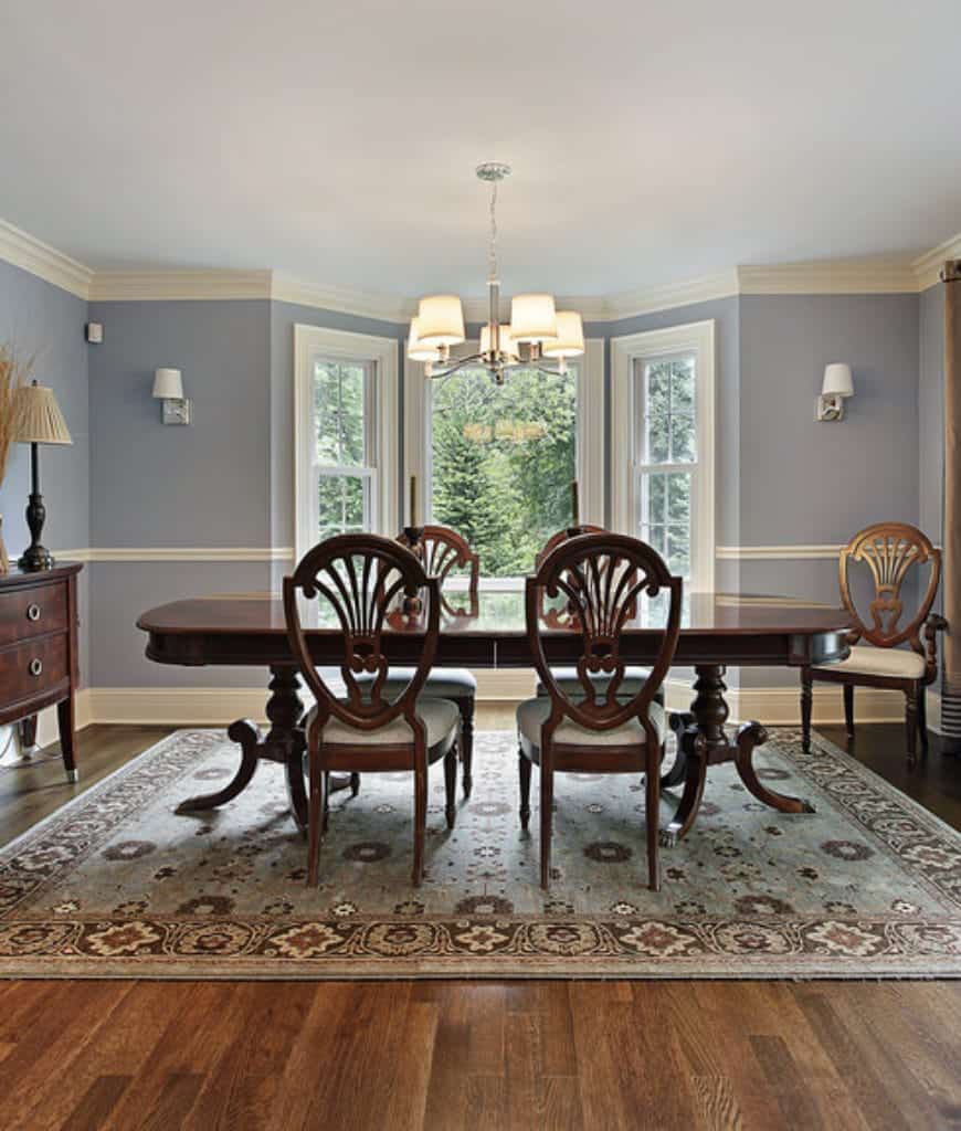 95 Dining Rooms with an Area Rug (Photos) in 2020 ... on Living Room Wall Sconce Ideas For Dining Area id=28606