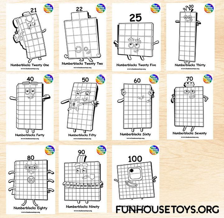 Fun House Toys Numberblocks Coloring Pages Printable Coloring Pages Coloring For Kids