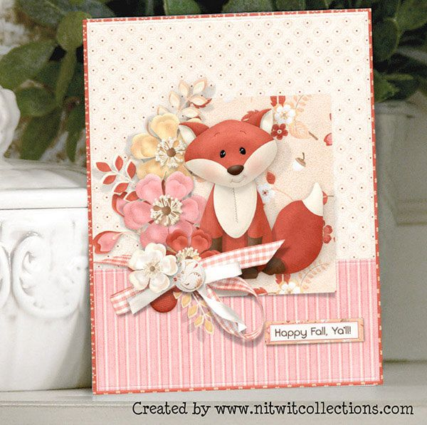 Card Making Ideas Thanksgiving Part - 27: Cute Fox Card For Thanksgiving Credits: FQB - Nitwit Thicket Collection And  Coordinating Products From Nitwit Collections™