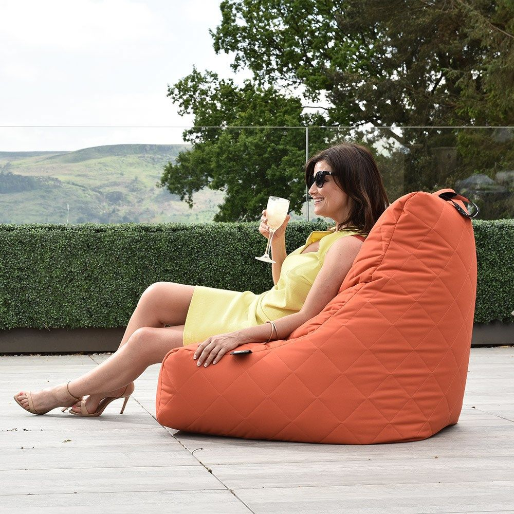 Outstanding Extreme Lounging Mighty B Quilted Bean Bag In Orange Bean Cjindustries Chair Design For Home Cjindustriesco